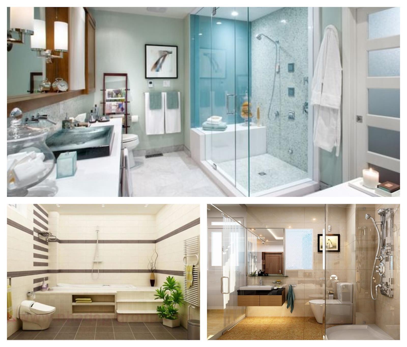 Thiết kế màu sắc phòng tắm, nhà vệ sinh phù hợp